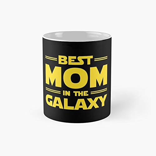 Best Mom In The Galaxy Classic Mug - Gift The Office 11 Ounces Funny White Coffee Mugs-nilinkep