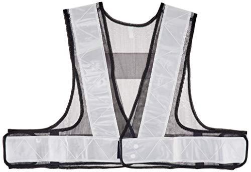 カチボシ 安全ベストショート丈 (7cm巾) 紺生地×シルバーテープ KA-540