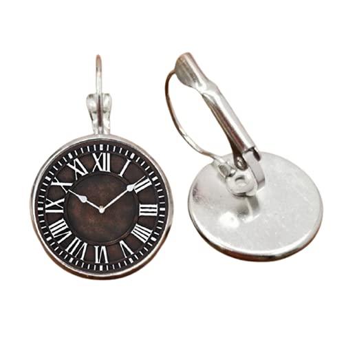 Pendientes de reloj de hierro reloj de pared reloj vintage tiempo privado personalizado amigos