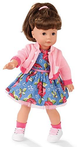 Götz 1990309 Precious Day Girls Elisabeth Puppe Roses Garden - 46 cm große Stehpuppe, braune Haare, braune Schlafaugen 8-teiliges Set
