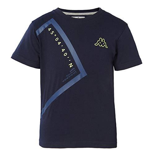 Kappa Kid 6Y - Camiseta para niño (Keop), color azul y negro