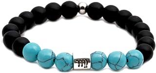 SBI Jewelry 12 Constellation Zodiac Bracelet for Men Women Turquoise Beaded Stretch Bracelets Gift for Birthday Friendship