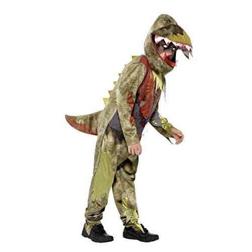 Smiffys Costume Deluxe Dinosauro Spettrale, comprende Tuta e Copricapo