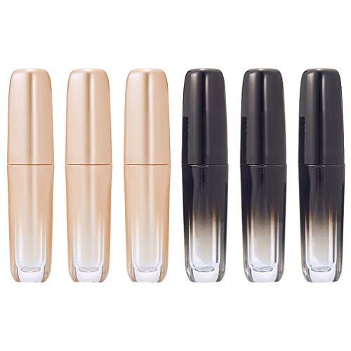 Minkissy Contenants Vides de Brillant à Lèvres Contenants de Baume à Lèvres en Plastique 6Pcs Bouteilles D'échantillons de Cosmétiques Rechargeables