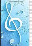 Cuaderno De Musica Pentagrama Para Piano: 6 sistemas de 2 pentagramas de piano por página - en blanco - A4 - 110 paginas - escuela de música, niño, estudiante