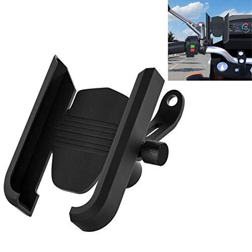 CS-1068B1 motocicleta de aleación de aluminio sostenedor del teléfono móvil del soporte, Espejo titular Versión (Negro) Alta calidad (Color : Black)