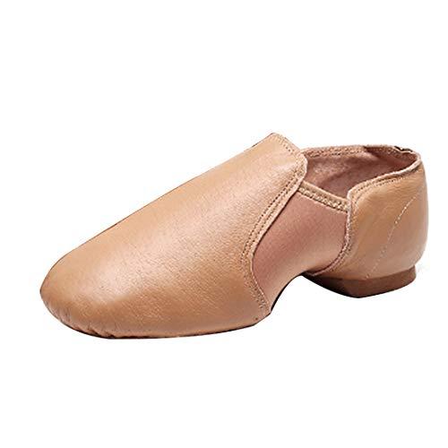 IOSHAPO Zapatos de Ballet de tacón bajo para Hombres y Mujeres Lona...