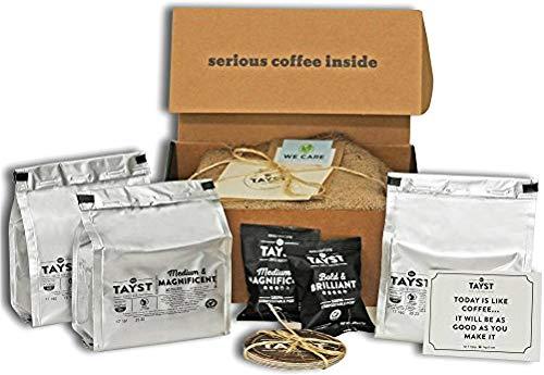 Tayst | 50 ct. Medium Sample Box | 100% Compostable Single Serve Coffee Pods | Gourmet Coffee in Earth Friendly Packaging | Medium Roast Coffee