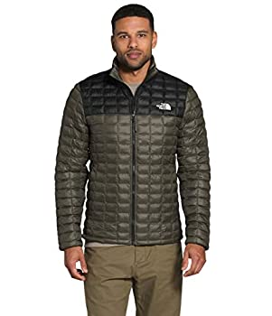The North Face Men's Thermoball Eco Insulated Jacket - Fall or Winter Coat New Taupe Green Matte/TNF Black Matte L