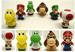 Super Mario Brothers Bath Play Set with Mario, Luigi, Koopa Troopa, Yoshi, Donkey Kong, and Toad