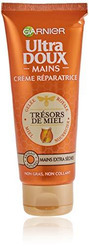 Garnier Ultra Doux Handcreme, extra trockene Haut, stärkend, mit Honig,75 ml - 1er Pack