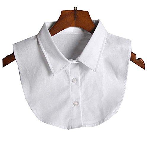 Black Temptation Klassisches weißes Hemd Ausschnitt Halbhemd Falscher Kragen Mode Fake Kragen, weiß