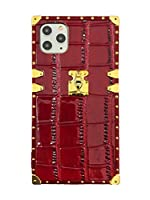 [プレミアム エックス]PREMIUM X 正規品 アイフォンケース スマホケース クロコダイル ワニ革 合皮レザー スクエアケース ストラップ TPU ソフトケース