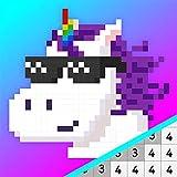 Livro de colorir Pixel Unicorns