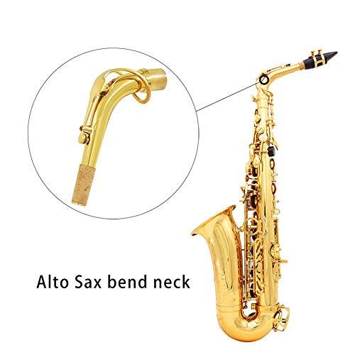 RONSHIN Popular Sell for Goudkleurig messing Alt-stem saxofoon Elleboogbocht voor saxofoonaccessoires