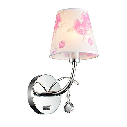 ZWL Mur de LED, Chambre créative Lampe de chevet Salle de mariage Lampe murale Lampe de chambre pour enfants Salon Fond Ensemble mural Lampe murale Eclairage de l'allée Soleil E14, 14 * 29cm mode ( taille : 14*29cm )