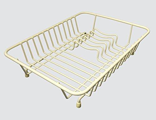 Delfinware Abtropfgestell, kompakt, Metall, cremefarben, 31.5 x 25 x 8.5 cm