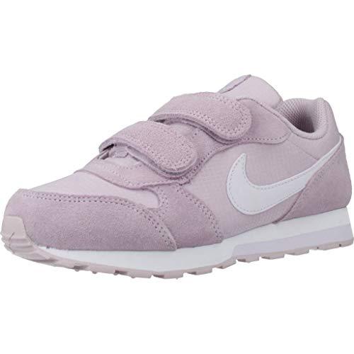 Nike MD Runner 2 PE (PSV) Sneaker, Ice Lilac/Barely Grape, 31.5 EU
