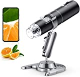 Wireless Digital Microscope, Skybasic 50X to 1000X WiFi Handheld Zoom...