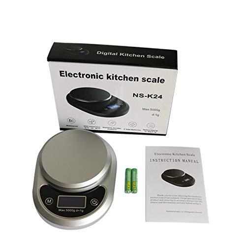 N-B Báscula electrónica de Alimentos, báscula de cocción electrónica, portátil, aleación de Aluminio, Impermeable, medición de líquidos, Pantalla LCD, encimera Doble, Cocina