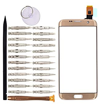 Goodyitou Touch Screen Glass Digitizer Replacement for Samsung Galaxy S7 edge/G935F/G935FD/G935W/G9350 Golden [NOT LCD]