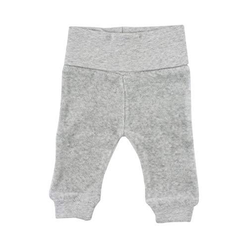 FIXONI LITTLE BEE Le pantalon pour prématuré en velours ras pantalon bébé, 01-82 Light Grey Melange