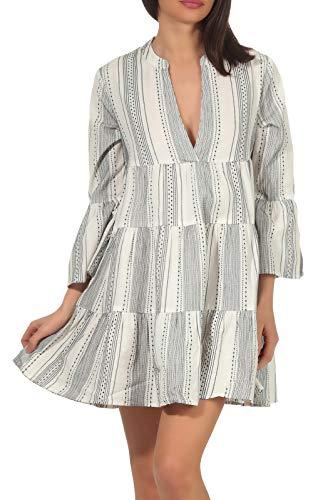 ONLY Damen ONLGRY Athena 3/4 Dress WVN Kleid, Cloud Dancer, 38