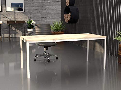 Mesa de Oficina con Estructura perimetral, de 180x80cm. FABRICACIÓN Nacional. Entrega de 3 a 5 dias. (Tablero Maple, Estructura Blanca)