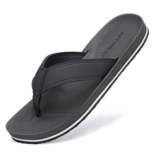 AFFINEST Chanclas Hombre Flip Flop Sandalias Comodo Antideslizantes Verano Zapatos de Playa y Piscina