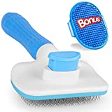 2Pcs Self Cleaning Slicker Brush set, Gently Remove Loose Hair & Tangles,Pet Grooming Bath Brush, with Adjustable Ring Handle for Long Short Haired Dogs and Cats, Adhjito