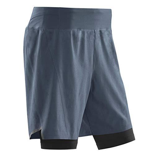 CEP – Run 2IN1 Shorts 3.0 für Herren   Kurze Sporthose mit Kompression in grau/schwarz   Größe II