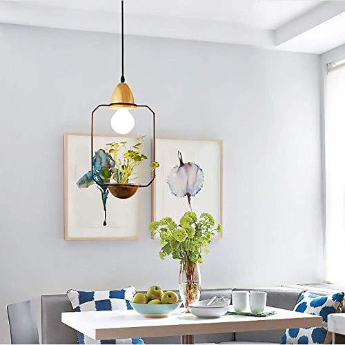 LJWJ Lámpara Candelabros Luces de Techo, Creativo en Eta Led Personalidad Jardín Restaurante Iluminación Flor Vidrio Planta Bar Candelabro de Hierro Forjado