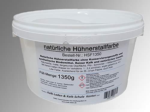 Hühner-Stall-Farbe ohne jegliche Schadstoffe. Für bis zu 27 qm, 100{8088e73a8beac7ce96bf4c8dd993dcd504b4a1234775ec99b4a2b30b3ed24ef7} Bio, 1350 g