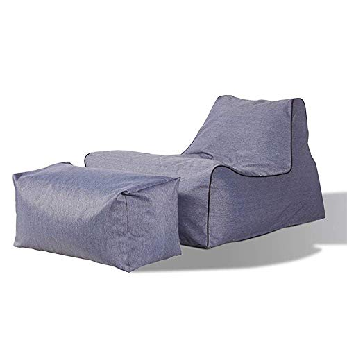 WK Lazy Sofa Sofa Sessel Bett for Pool Camping Im Freien Lazy Bag Wolke Couch Sitzsäcke for Erwachsene (Farbe: Grau) lili (Color : Gray)