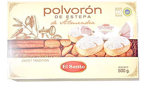 El Santo Polvorón De Almendra - Weihnachtliches Mandelschmalzgebäck aus Spanien (1 x 500g)