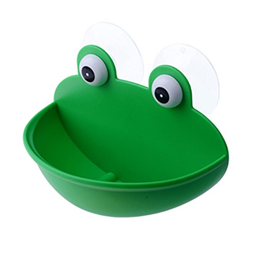 Kxtffeect 1Pce Cut Frog Styling Soap Dish Holder, Silicone Portable Soap Dish Holder for Shower, Bathroom, Kitchen, Counter Top, Travel (1)