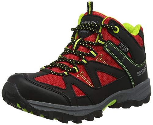 Regatta Gatlin Mid, Chaussures de Randonnée Hautes Mixte Enfant, Rouge (Chinred/Lime), 30 EU