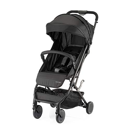 Compact Baby Stroller, Lightweight Infant Stroller with Convenient One-Hand Fold(Black)