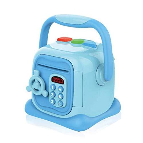 GJRFYJ Hucha de la canción de los niños, mini banco electrónico de la moneda de la máquina automática de la cajera, juguete electrónico inteligente del regalo de los niños