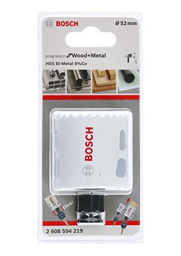 Bosch Professional 2608594219 Lochsäge Progressor für Wood & Metal (Holz und Metall, Ø 52 mm, Zubehör Bohrmaschine)
