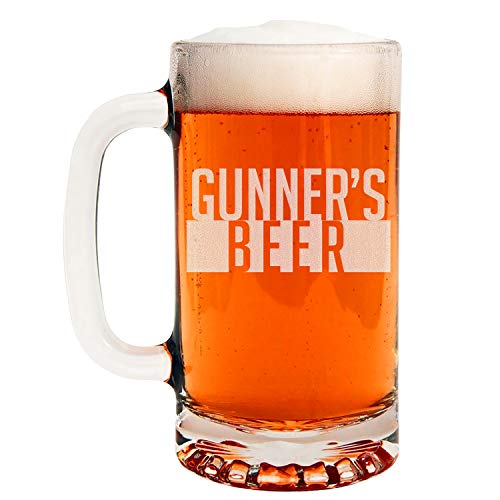 Personalized Etched 16oz Glass Beer Mug