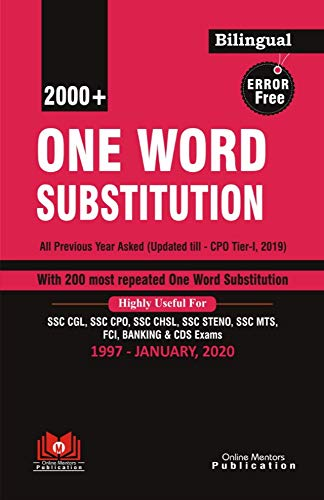 ONE WORD SUBSTITUTION| 2000+| BILINGUAL|ONLINE MENTORS PUBLICATION|