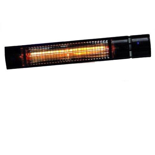 Shadow Ultra Low Glare Wall Mounted Heater 1500w - Black