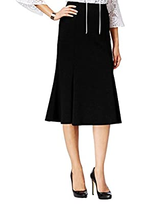 NY Collection Women's Ponte A-Line Skirt