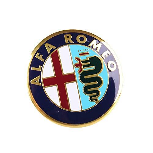 ZHAOSHOP 56.5mm Car Styling Auto Logo Emblem Badge Sticker Wheel Center Caps Center Cubierta Neumático para Alfa Romeo Mito 147 156 155 159 166 Giulietta Spider GT Stelvio Giulia tapacubos