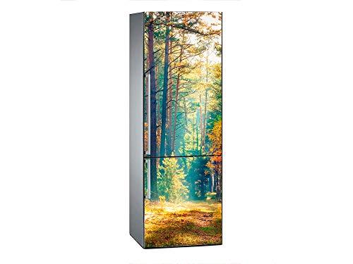 Oedim Pegatinas Vinilo para Frigorífico Paisaje Camino Bosque | 185x60cm | Adhesivo Resistente y de Fácil Aplicación | Pegatina Adhesiva Decorativa de Diseño Elegante