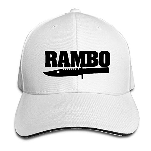 Ram-bo Knife Baseball Caps Adjustable Sandwich Caps