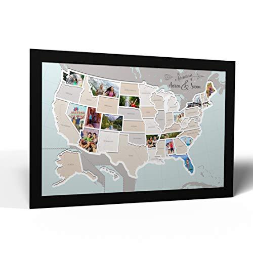 USA Photo Frame Map