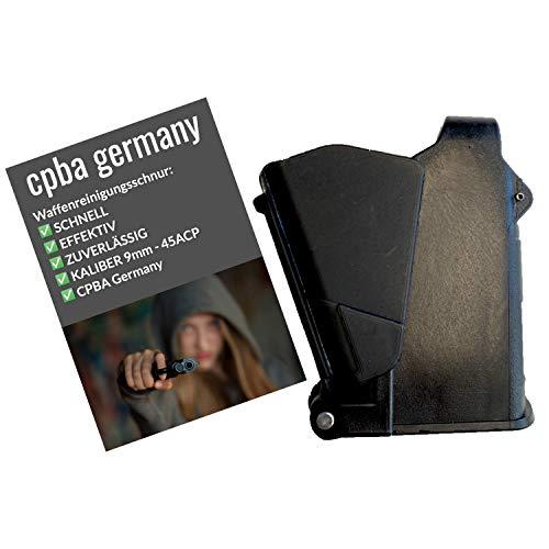 cpba germany | Magazin Ladehilfe | Pistolenmagazin | schnelles Aufmunitionieren | Speedloader | Schreckschuss P.A.K. | 9mm bis .45ACP