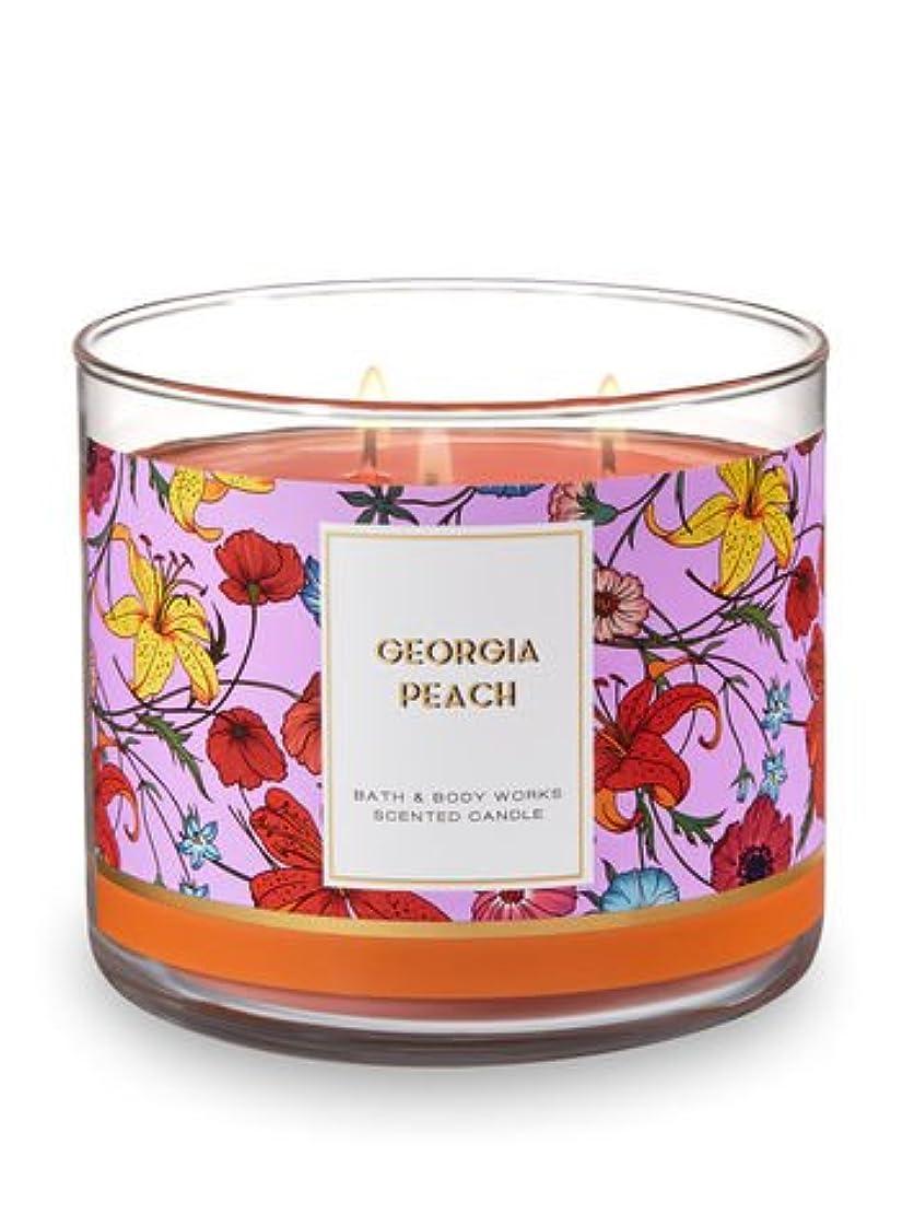 瞳きゅうり分Bath and Body Works 3?Wick Scented Candle Georgia Peach 14.5オンス